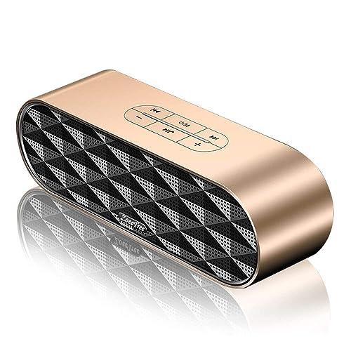 ZoeeTree S3 Enceinte Bluetooth Portable, Bluetooth4.2 EDR, avec Son 360°, 10W Haut Parleur Stéréo avec Audio Haute Définition et Basse Améliorée, Mains Libres Appel TF Carte Slot-Gold