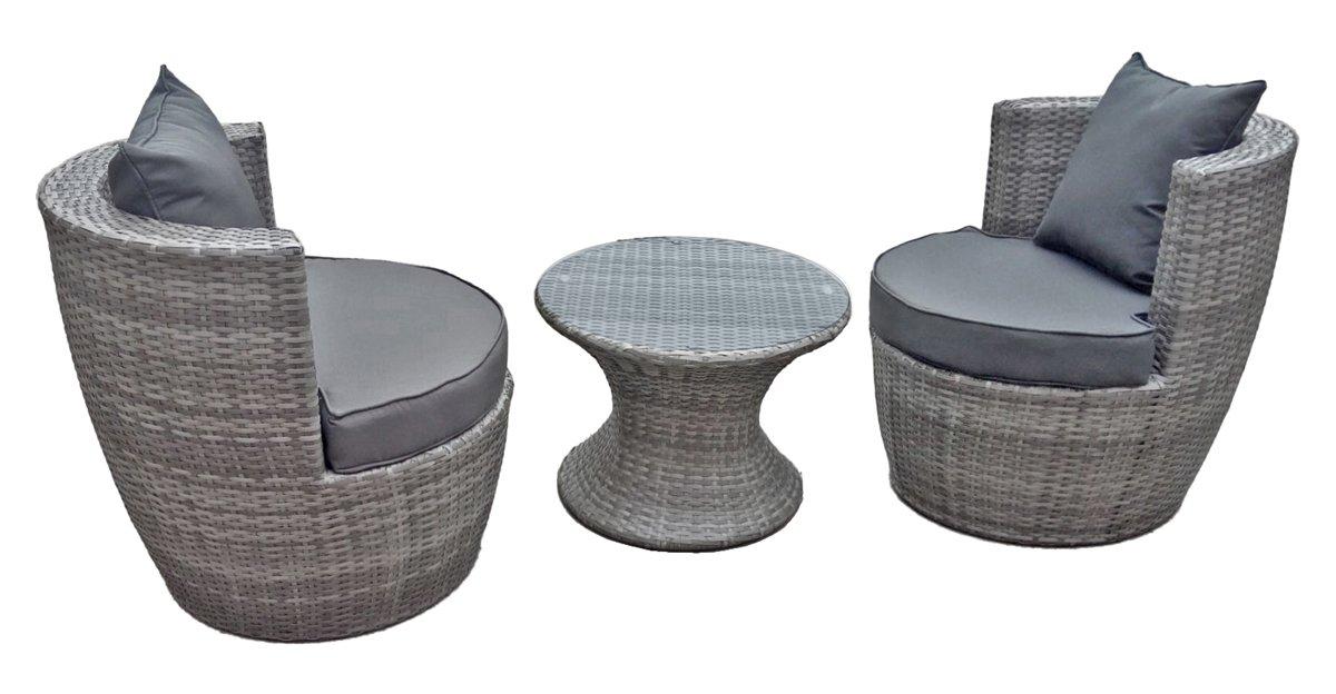 Jardinion Club Möbel Set, 3 teilig, Tisch, 2 Sessel mit Kissen ...
