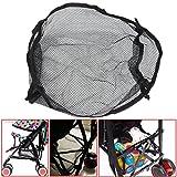 Bazaar Universal Black Under Storage Net Bag Buggy Stroller Pram Basket Shopping Baby Item Pushchair Pocket