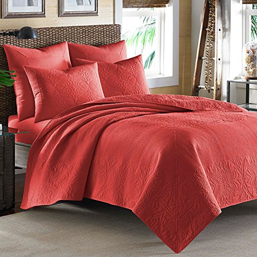 Tommy Bahama Nassau Classic Quilt, Full/Queen, Medium Red