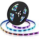 CHINLY 16.4ft WS2812B Individually Addressable LED Strip Light 5050 RGB SMD 150 Pixels Dream Color Waterproof IP67 Black…