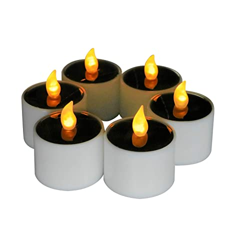 Home & Garden New 6pcs Flameless Led Tealight Candle Flickering Tealight Night Light Home Decor