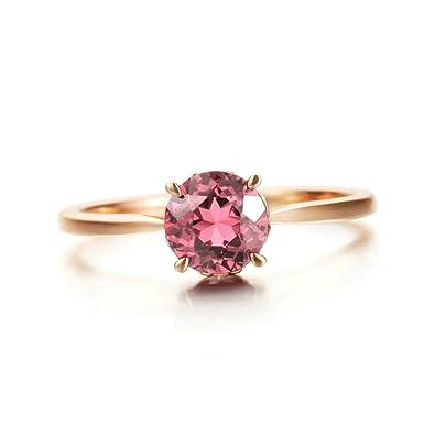 Anazoz Echtschmuck Damen Ring Rubin Diamant 0 85 Karat 18k Rosegold