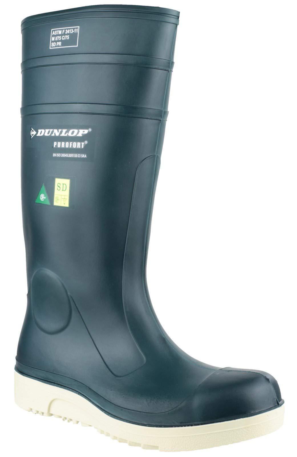 Dunlop Unisex Purofort Comfort Grip Full Safety Wellington Blue Size UK 7 EU 41 by Dunlop