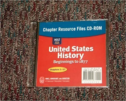 Amazon holt social studies united states history beginnings holt social studies united states history beginnings to 1877 chapter resource files cd rom 1st edition fandeluxe Gallery