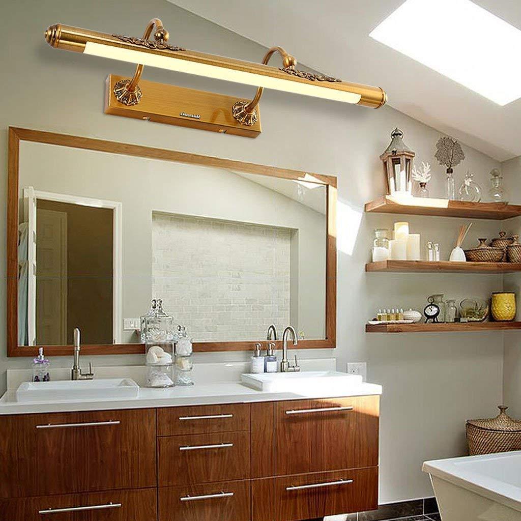 Mirror Lamps Home Amerikanische Spiegellampe Badezimmer führte Europäische Spiegellampe Badezimmer-Badezimmer-Spiegel-Kabinett-Licht einfaches Make-up Retro (Farbe   50  5)