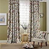 Leyden Grommet Top Cottage Coloful Garden Print Curtains Curtain Drapes – 72Wx63″L Multi Size Customizable(One Panel) For Sale