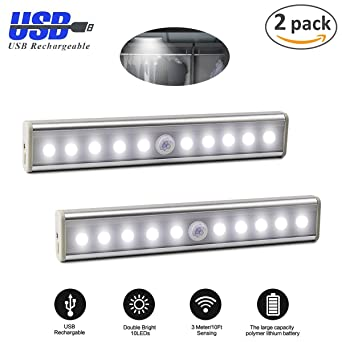 [2 pack]Barra de Luz LED XinXu Sensor de Luz LED de Pared Luces de Noche ...
