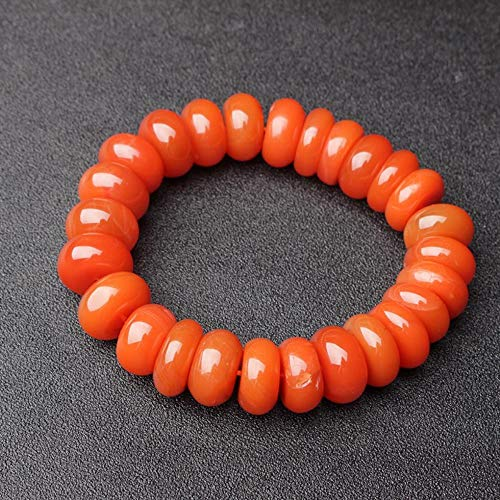MGZDH Natural South Red Agate Abacus Beads Crystal Bracelet Fashion Jewelry