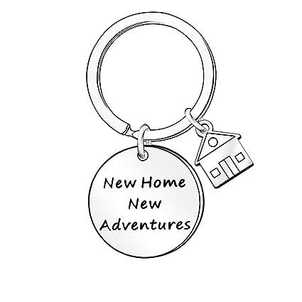 Llavero con Texto en inglés New Home New Adventures, Regalo ...