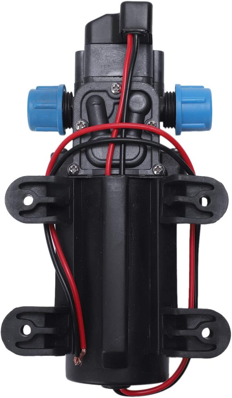 min REFURBISHHOUSE Negro 12V 60W Bomba de Agua de diafragma de presion Alta Automatico Apagar 5L