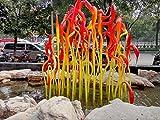 Morden style Hand Blown Glass garden decoration