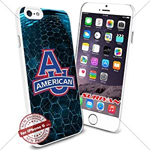 New iPhone 6 Case American Eagles Logo NCAA #1024 White Smartphone Case Cover Collector TPU Rubber [BLUE 3D]