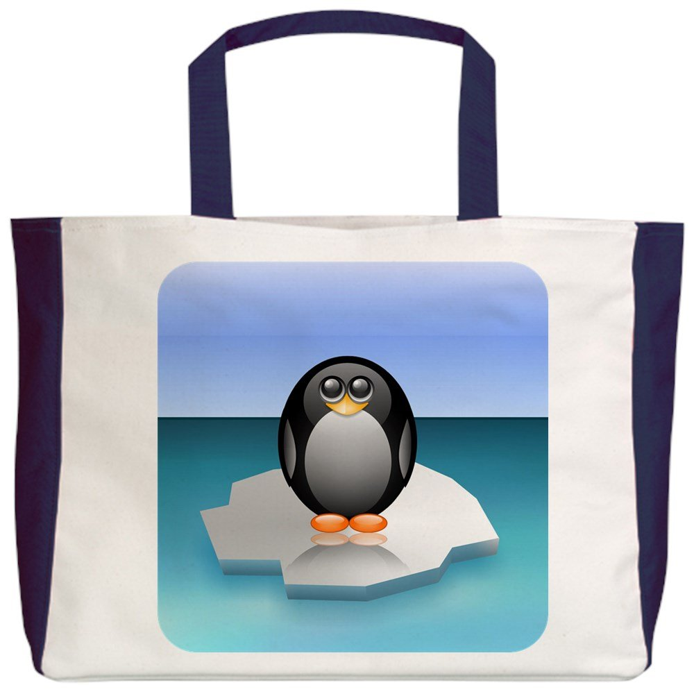 Royal Lion Beach Tote 2-Sided Cute Baby Penguin