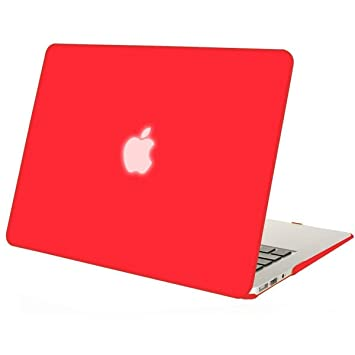 MOSISO Hard Case Compatible MacBook Air 13 inch Model A1369 // A1466 Ultra Slim Plastic Protective Snap On Shell Cover Wine Red Older Version Release 2010-2017