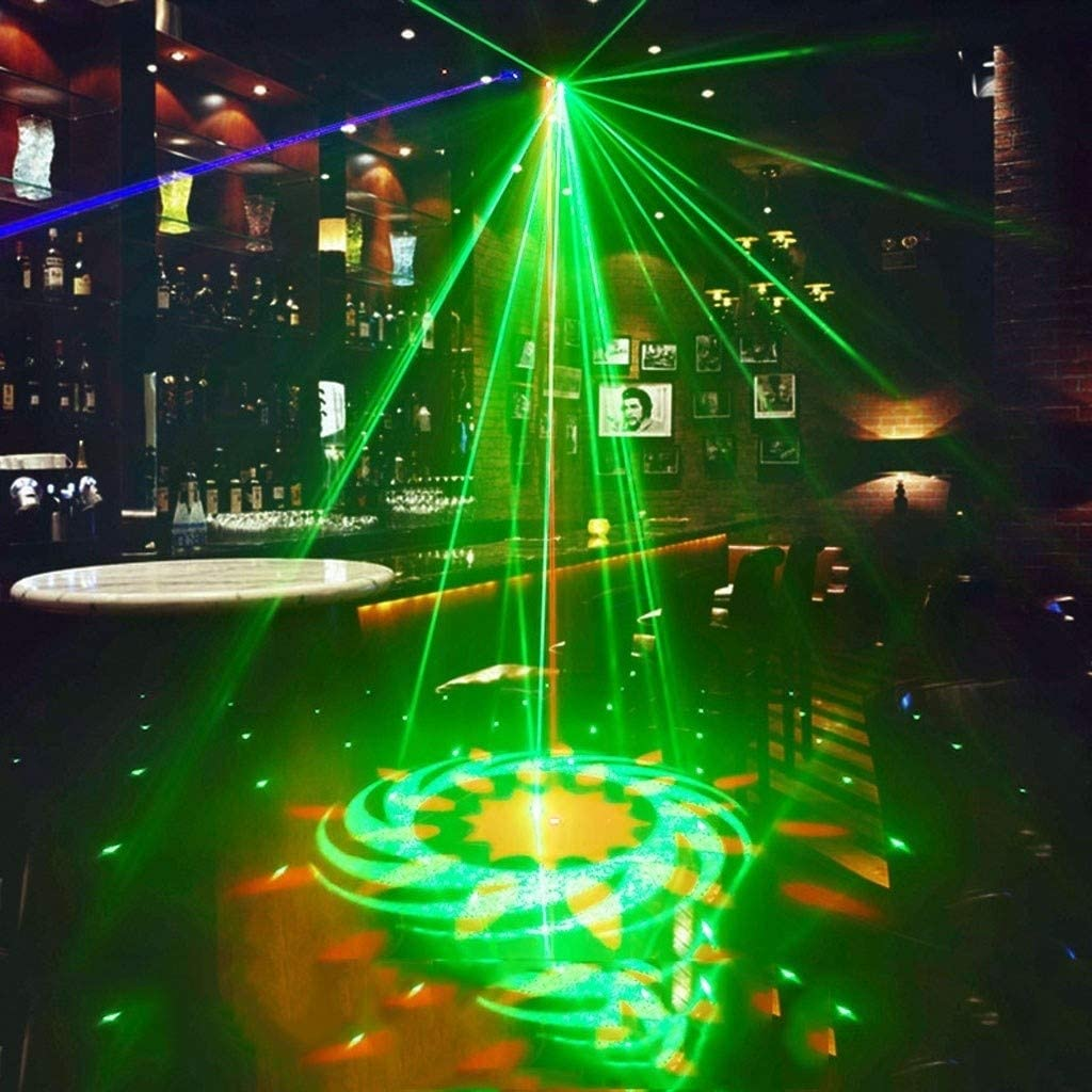 Disco Lights LED 4 Channel 4-eye Pattern Stage Light 50W RGBW DMX 512 Activation Scene Red Green Blue Full Color Scanning Fan For Family Bar Ktv Stage disco light A1