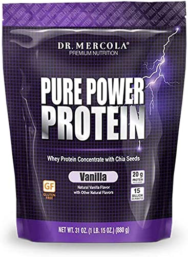 DR MERCOLA Pure Power Protein Supplement, Vanilla, 15 Ounce
