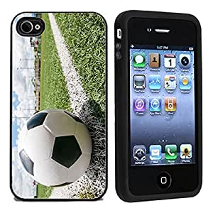 iphone covers IP4 Soccer Ball On Chalk Line For Apple Iphone 5 5s Case / Cover All Carriers