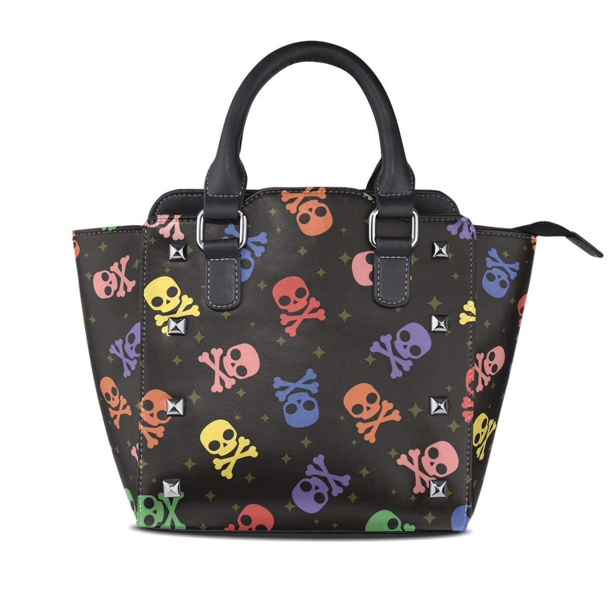 Design3 Handbag Tribal Style Turtle Genuine Leather Tote Rivet Bag Shoulder Strap Top Handle Women