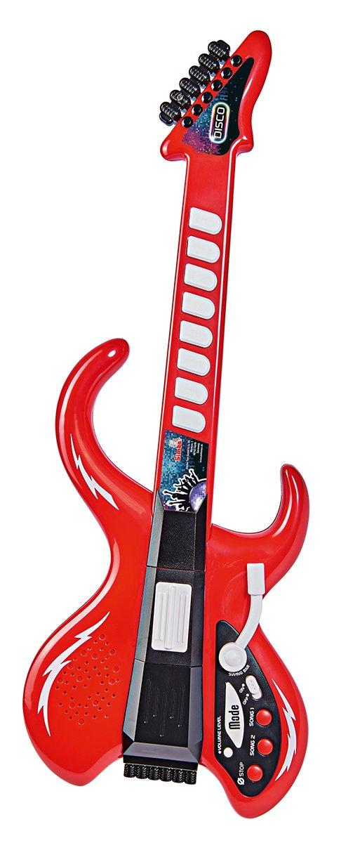 Simba 106834251 My Music World Disco Guitarra con Amplificador: Amazon.es: Juguetes y juegos
