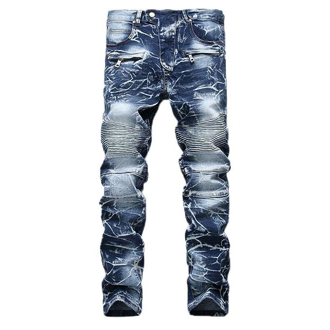 960ba3ec937d39 LiucheHD-Pantaloni Sportivi da Uomo Jeans Color Denim Stretch Regular Fit  Jeans da Uomo Skinny Strappati Elasticizzati da Uomo Pantaloni Jeans da  Denim: ...