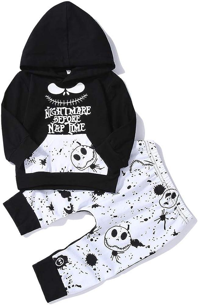 Ropa Bebe,Niños Bebés Otoño Invierno Sudaderas con Capucha Ropa Camisas Recién Nacido Niño Manga Larga Imprimir Top + Pantalones Conjunto Traje