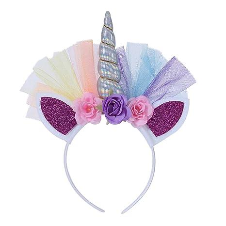 Westeng Boda Corona Princesa Diadema para Niña Brillante Tocado Cumpleaños Accesorios de Pelo Decoración de Disfraz para Fiesta size 28cm*22cm ...