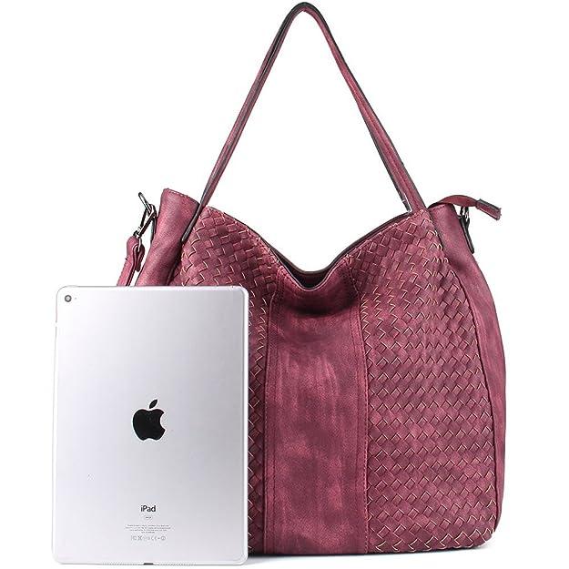 Amazon.com: WISHESGEM cartera para mujer, bolsa estilo hobo ...