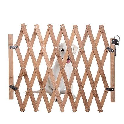 Porte en bois expansible de barrière, porte escamotable de porte de chat  chien porte coulissante porte coulissante d\'écran de chien rétractable ...