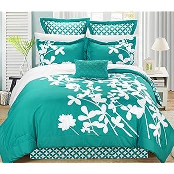 Amazon Com Chic Home Iris 7 Piece Comforter Set With Four