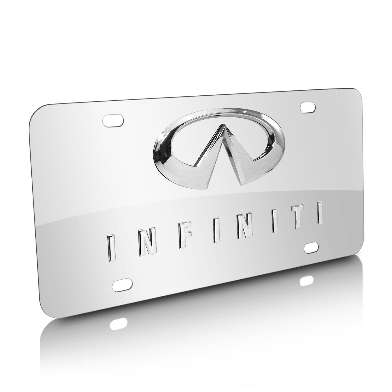 Amazon.com: iPick Image Infiniti Double 3D Logo Chrome Stainless Steel License Plate: Automotive
