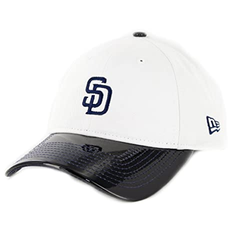 Image Unavailable. Image not available for. Color  New Era 920 San Diego  Padres Retro Hook Strapback Hat (White Navy) Dad 33ca6318b4c3