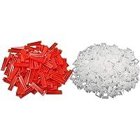 300 stks Plastic Ceramic Tile Nivelleersysteem 200 Clips + 100 Wiggen Tiling Flooring Tools Wiggen Clips 1mm voor…