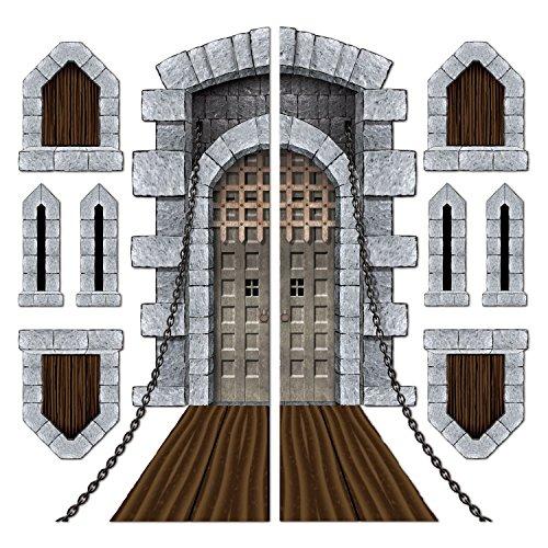 castle door window props party accessory 1 count 9pkg