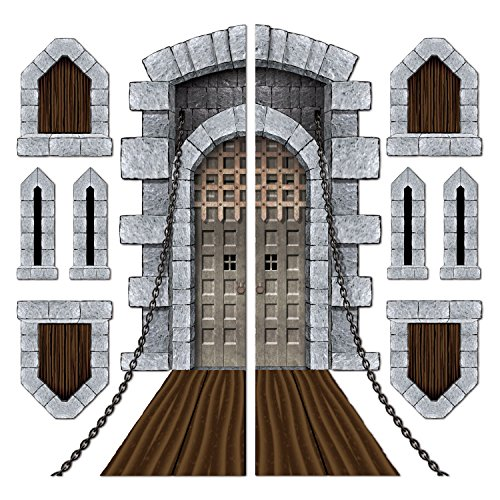 Renaissance Costumes Amazon (Castle Door & Window Props Party Accessory (1 count) (9/Pkg))