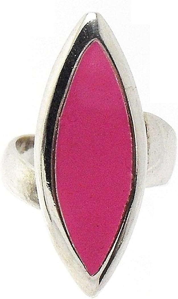Sortija plata Ley 925m talla 11 ajustable lanzadera rosa [783]