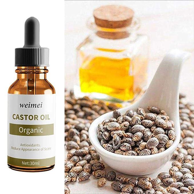 Natural orgánico 100% aceite de ricino - pestañas crecer serum, promueve las cejas naturales y el crecimiento de pestañas, contiene cinco juegos de cepillos ...