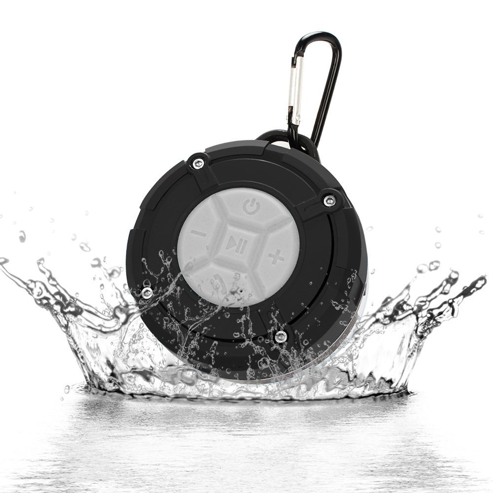 Shower Speaker, Tsumbay Bluetooth Portable Speaker IPX7 Waterproof Speaker with Suction Cup, Buit-in Mic, Hands-Free Speakerphone Mini Wireless Outdoor Speaker -Blue BTS300