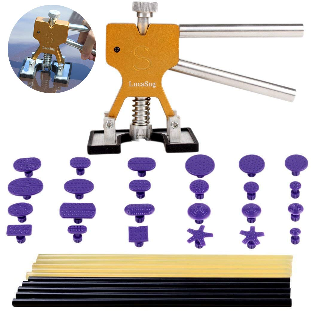 LucaSng Body Dent Puller Set, DIY Painless Dent Puller PDR Removal Repair for Auto Motorcycle Refrigerator Washing Machine-51 PCS