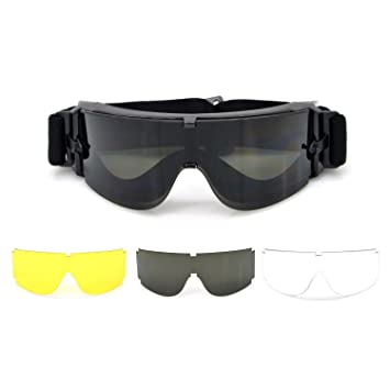 Fun Will® Lunettes de protection avec disque anti-rayures et vue  panoramique Champ, de1e1cdab2a4