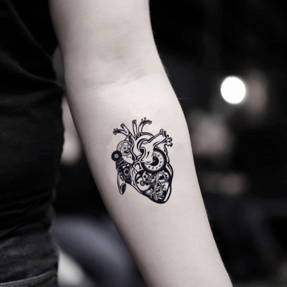 Tatuaje Temporal de Steampunk Heart (2 Piezas) - www.ohmytat.com ...