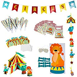 Circus Party Supplies Decorations – Circus Themed Party Supplies – Carnival Party Supplies - Carnival Theme Decorations by Tigerdoe