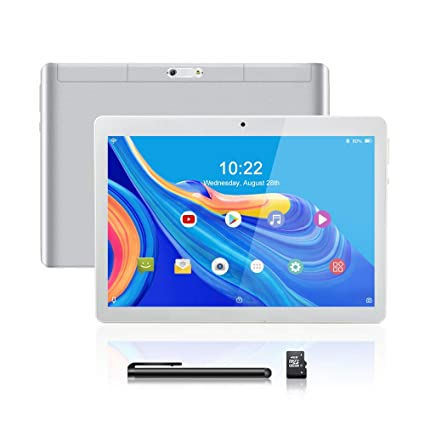 Tablet Android 8.1, 10.1 Pulgadas Tablet PC, CPU de Cuatro Núcleos, Doble Tarjeta SIM, 2GB+64GB, IPS HD(1280 x 800), 3G Tableta Android con ...