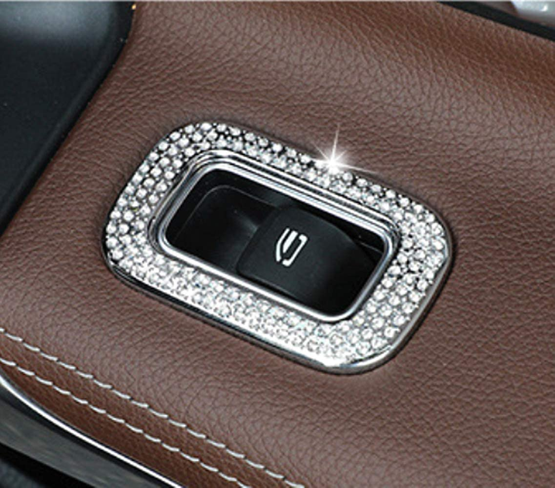 Armrest Box Decoration Sticker 1//pcs HAILWH Bling Bling Interior Accessories Fit for Mercedes Benz 2019-2020 A-Class B-Class 2020 CLA GLB Modification Rhinestone Crystal Accessories Applique Cover