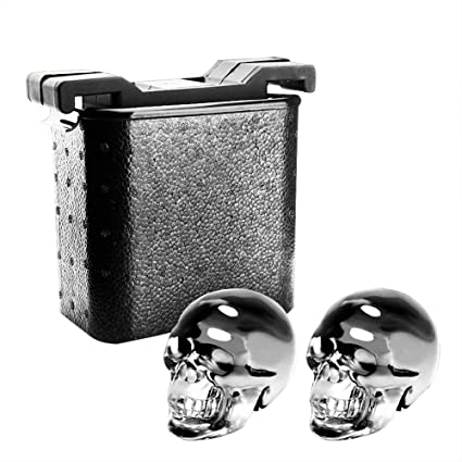 Crystal Clear Ice Skull Ball Maker - Silicone + ABS + Foam Box, Crystal Transparent
