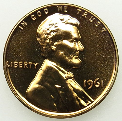 1961 Gem Proof Lincoln Memorial Cent Penny Proof US ()