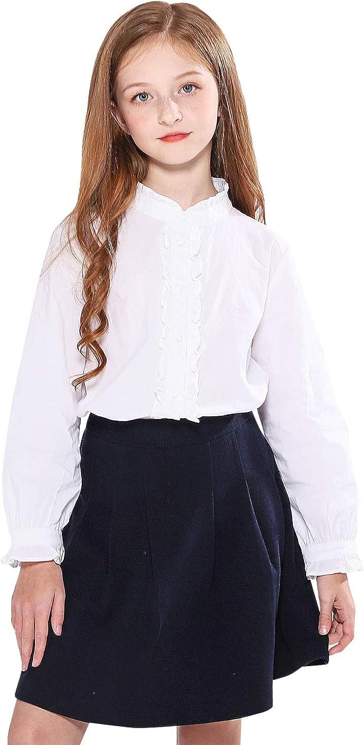 School Apparel Girls Button Front Skort A 1014