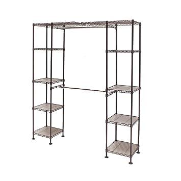 Exceptional Seville Classics Expandable Closet Organizer System, Satin Bronze