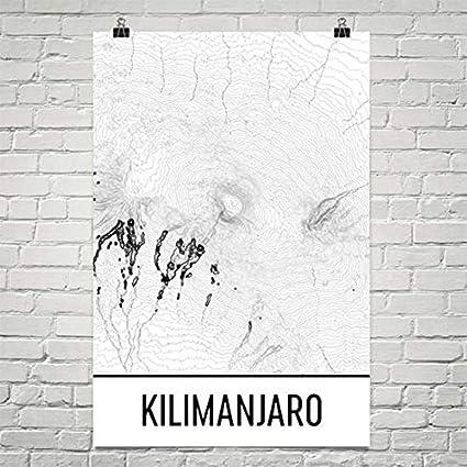 Amazon Com Kilimanjaro Print Mt Kilimanjaro Tanzania Poster
