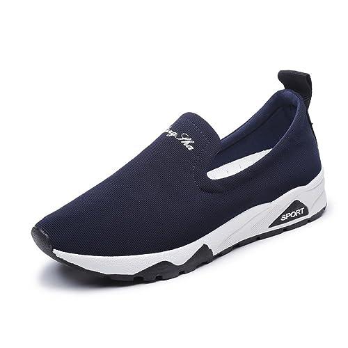 Kotzeb Zapatillas de Sport Running para Mujer Deportivas Correr Walking Jogging Loafers Slip On Plataforma 3.5CM Fitness Atlético Sneakers Negro Azul Rojo ...